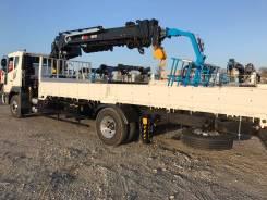 Daewoo Novus. 8 тонн с КМУ HIAB190 + буровая установка - 2017год, 7 640куб. см., 8 000кг., 4x2