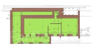 В аренду - помещение свободного назначения можно под склад, в центре. 124 кв.м., улица Пологая 38, р-н Центр. План помещения