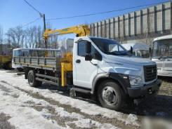 ГАЗ ГАЗон Next C41R33. КМУ Газон NEXT (C41R33)+Soosan SCS334+борт сталь 5200*2350*400мм., 4 430куб. см., 3 200кг.