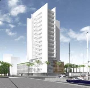 Проект по строительству отеля 4* на 1 линии от моря в Барселоне.