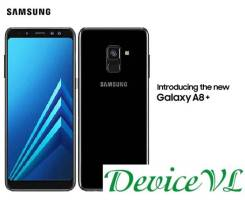 Samsung Galaxy A8+. Новый, 32 Гб, Черный, 3G, 4G LTE, Dual-SIM, Защищенный