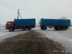 КамАЗ 5320. Камаз 5320 зерновоз с прицепом, 17 500 куб. см., 10 т и больше