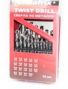 Набор свёрл по металлу М72388 1-10мм (через 0,5мм) 19шт/Matrix