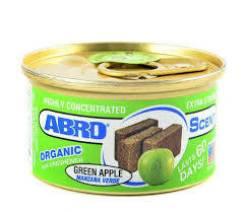 """Ароматизатор воздуха на панель органический """"ABRO Scent"""" AS-560-GA Зеленое яблоко"""