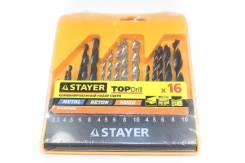 Набор Stayer : комбинированный набор сверл, 16пр. 29720-H16