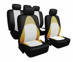"""Авточехлы """"CarFort Active"""" AC-3004 с дышащей 3D сеткой,комплект,черно-оранжевый,13пред"""