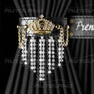"""Комплект штор """"Autoland Frenzo CROWN"""" 1704343-363BK/GL 2шт, S, 60см, черный/золото"""