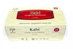 """Салфетки бумажные """"Maneki Kabi"""" 2 слоя, белые FT371 (250шт/коробка)"""