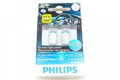Лампа светодиодная T10 Philips 8000K 12V 12799X2