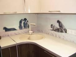 Изготовим кухонный фартук из закаленного стекла с фотопечатью