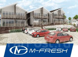 M-fresh Ocean (Проект каркасного дома отдыха у моря. С витражами! ). 100-200 кв. м., 2 этажа, 8 комнат, каркас