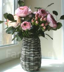 Стильный букет цветов ручной работы из фоамирана. Под заказ
