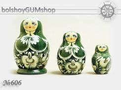 Матрешка российская (оригинал) 3 предмета 52х80 - suv-3-606