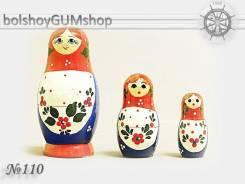 Матрешка российская (оригинал) 3 предмета 42х80 - suv-3-110
