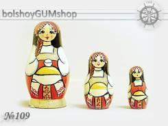 Матрешка российская (оригинал) 3 предмета 42х80 - suv-3-109
