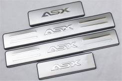 Накладка на порог. Mitsubishi ASX, GA1W, GA2W, GA3W Двигатели: 4A92, 4B10, 4B11