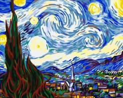 Картина по номерам 40*50 G192 Звездная ночь