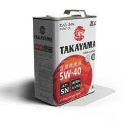Takayama. Вязкость 5W-40, синтетическое