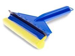"""Скребок для мытья """"Clingo"""" 23см, с поролоном, с водосгоном, синий CSQ-01"""