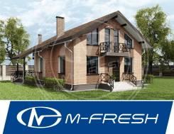 M-fresh Bellissimo! (Проект дома с облицовочным кирпичом на фасадах). 200-300 кв. м., 2 этажа, 6 комнат, бетон