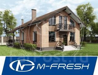 M-fresh Bellissimo! (Фасад из облицовочного кирпича, низкая мансарда). 200-300 кв. м., 2 этажа, 6 комнат, бетон