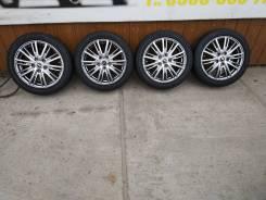 Комплект литых колес 195/50R-16 с летней резиной Bridgeston 2015г. 6.5x16 5x114.30 ET40 ЦО 63,0мм.