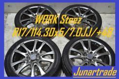 WORK Steez R17 с летней резиной Pirelli P6 215/45/R17 б/п по РФ