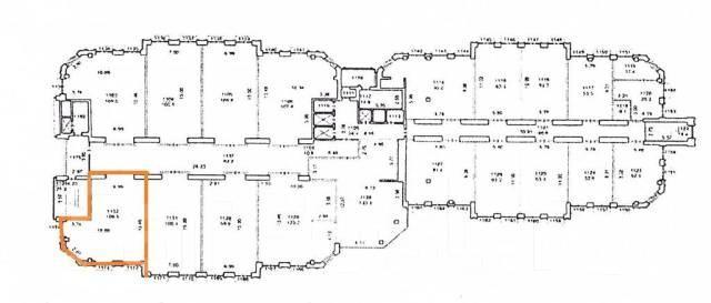 Нежилое помещение под любой бизнес по ул. Четвертая, д.6д. Улица Четвертая 6д, р-н Океанская, 100кв.м. План помещения