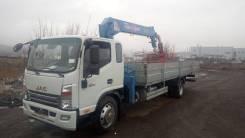 JAC N120. Новый грузовик самогруз КМУ Tadano ZFX365 12метров, борт 7500, 3 800 куб. см., 6 500 кг., 10 м.