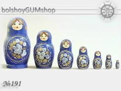 Матрешка российская (оригинал) 7 предметов 75х140 - suv-7-191 Кобальт