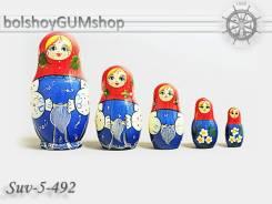 Матрешка российская (оригинал) 5 предметов 60х110 - suv-5-492 Платочек