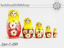Матрешка российская (оригинал) 5 предметов 60х110 - suv-5-299 Цветок