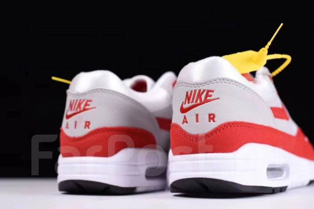 Кроссовки Nike Air Max 1 OG Anniversary gray red во Владивостоке - Обувь b598ae0b3