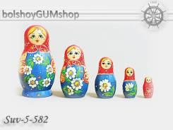 Матрешка российская (оригинал) 5 предметов 48*90 - suv-5-582 Венок