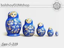 Матрешка российская (оригинал) 5 предметов 52*80 - suv-5-219