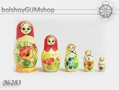 Матрешка российская (оригинал) 5 предметов 48х90 - suv-5-283 Классика