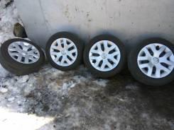 Японский комплект колес 205/55R16 5х114,3 ET40. 6.5x16 5x114.30 ET40 ЦО 66,1мм.