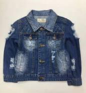 Куртки джинсовые. Рост: 98-104, 104-110, 110-116, 116-122, 122-128, 128-134 см