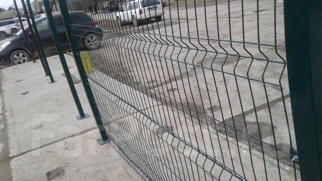 Заборы на винтовых сваях, профнастил, секционные, ворота и калитка