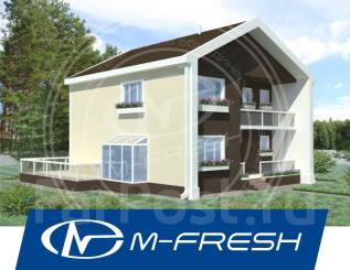 M-fresh Mattisto! (Готовый проект современного дома на участке у леса). 200-300 кв. м., 2 этажа, 5 комнат, бетон