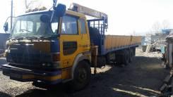 Hino FR. Продаётся грузовик Hino г/п 10 тонн с кр. установкой 3 т, борт 9 м, 17 238 куб. см., 9 110 кг.
