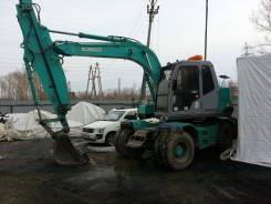 Kobelco SK100. Экскаватор колёсный , 0,55куб. м.