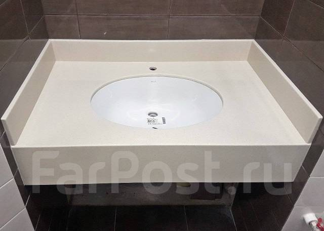 Изготовление столешниц для ванной из искусственного камня акрил, кварц