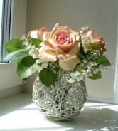 Нежные розы и ландыши ручной работы. Под заказ