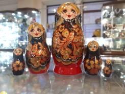 Матрешка российская (оригинал) 5 предметов 60х110 - suv-5-822 Птица