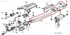 Резонатор. Honda Accord, CF3, CF4, CF6, CL3 Honda Torneo, CF3, CF4, CL3 Двигатели: F18B, F20B, F23A