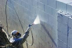 Окраска, защитные покрытия больших площадей фасадов, кровли, помещений