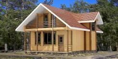 Дом из деревянного кирпича
