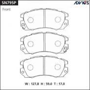 Колодки тормозные дисковые. Subaru Legacy, BC4, BC5, BD9, BF5, BF7, BFB, BG5, BG9, BGC, S40, TW4 Subaru Impreza, GC6, GC8, GC8LD, GF6, GF8, GF8LD, GFA...