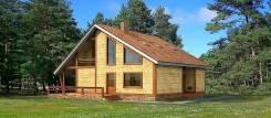 Загородный дом, коттедж из деревянного кирпича